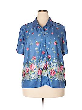 Haband! Short Sleeve Button-Down Shirt Size XXL