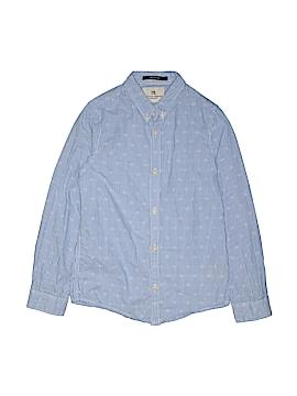 Scotch Shrunk Long Sleeve Button-Down Shirt Size 8