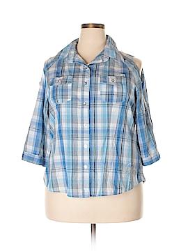 Apple Bottoms 3/4 Sleeve Button-Down Shirt Size 1X (Plus)
