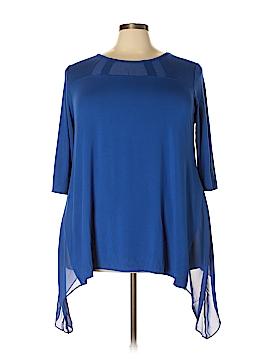Catherines 3/4 Sleeve Top Size 2X (Plus)