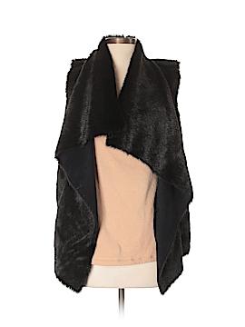 Kenneth Cole New York Faux Fur Vest Size S