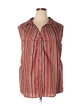 White Stag Sleeveless Button-Down Shirt Size 5X (Plus)