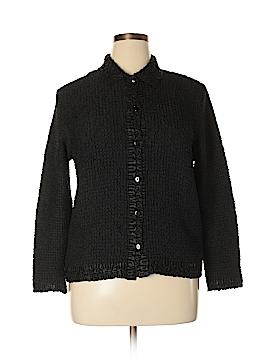 Rafaella Long Sleeve Button-Down Shirt Size L