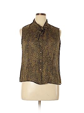 Jones New York Sleeveless Silk Top Size 16