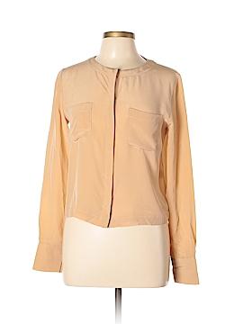 Yigal Azrouël New York Long Sleeve Silk Top Size 6