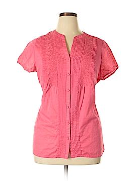 St. John's Bay Short Sleeve Button-Down Shirt Size 1X (Plus)