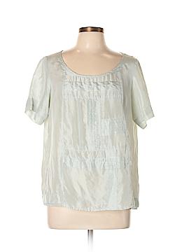 Winter Silks Short Sleeve Silk Top Size L