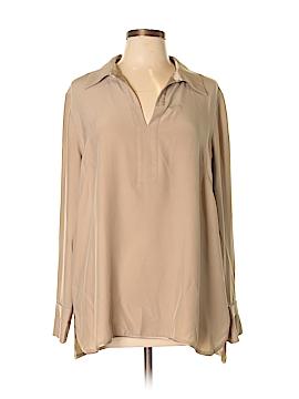 Lafayette 148 New York Long Sleeve Silk Top Size XL