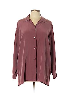 Laura Ashley Long Sleeve Silk Top Size 14