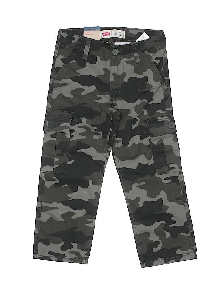 levis 100 cotton camo dark green cargo pants size 4 60