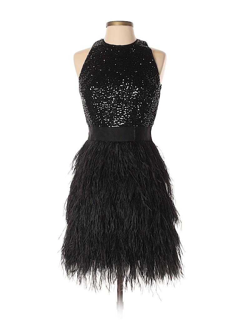 Milly Metallic Black Cocktail Dress Size 4 - 80% off | thredUP