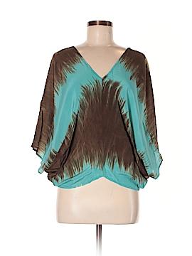 Ramona LaRue by Arianne Short Sleeve Silk Top Size XS