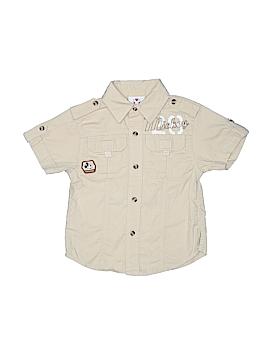 Disney Store Short Sleeve Button-Down Shirt Size 2 - 3