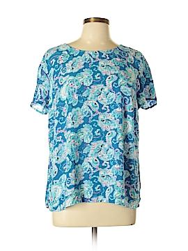 Talbots Short Sleeve Blouse Size L