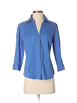 Karen Scott 3/4 Sleeve Button-Down Shirt Size XS