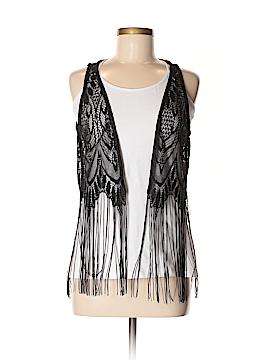 Black Poppy Vest Size Med - Lg