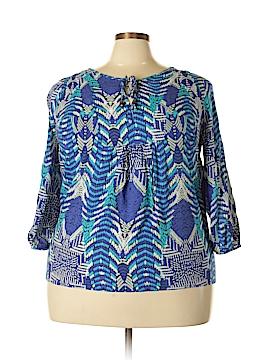 Como 3/4 Sleeve Blouse Size 1X (Plus)