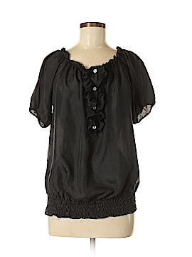 Gibson Short Sleeve Silk Top Size M