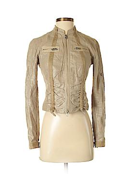 Armani Exchange Faux Leather Jacket Size XS