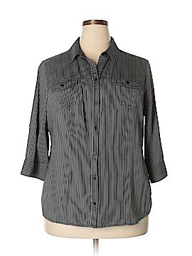 Croft & Barrow 3/4 Sleeve Blouse Size 1X (Plus)