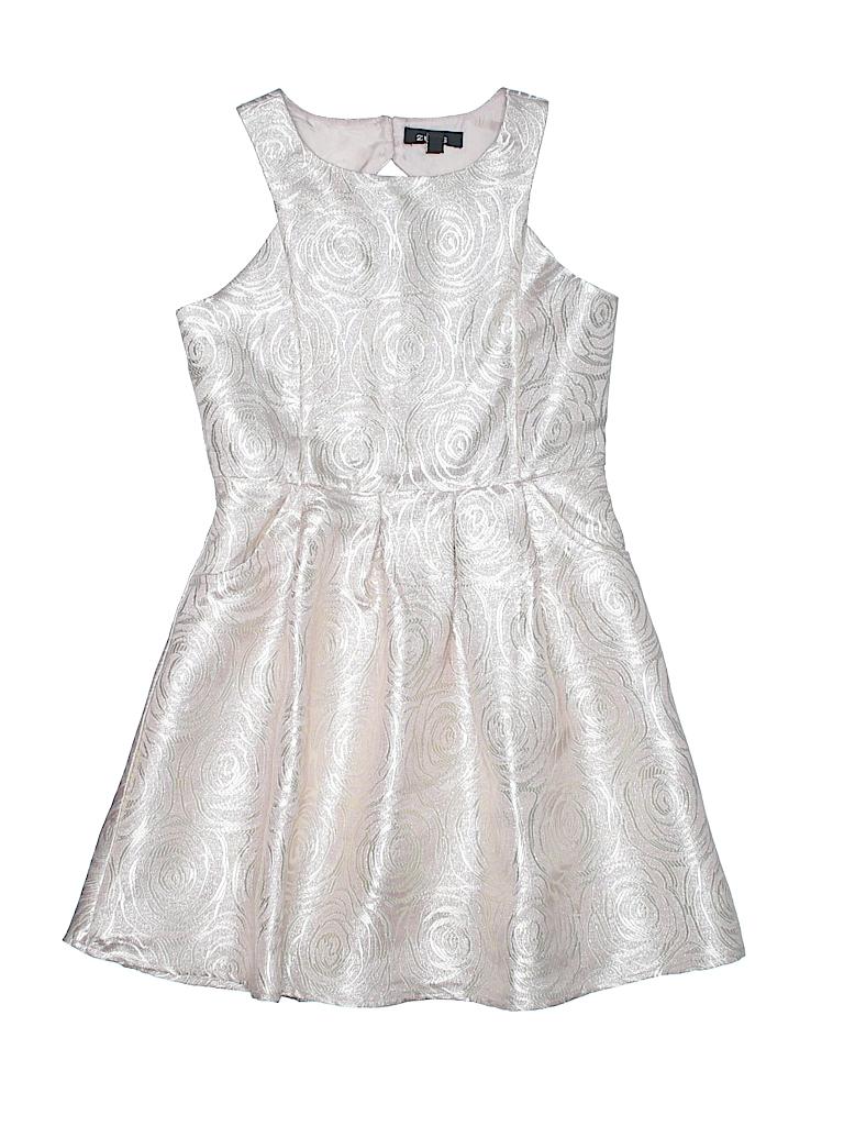 eb9242cdc75 Zunie Metallic Light Pink Special Occasion Dress Size 7 - 82% off ...