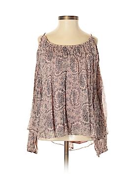 Elizabeth and James Long Sleeve Silk Top Size XXS