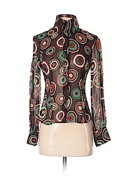 Sandra Angelozzi Long Sleeve Silk Top Size S