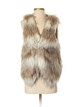 Under Skies Faux Fur Vest Size S