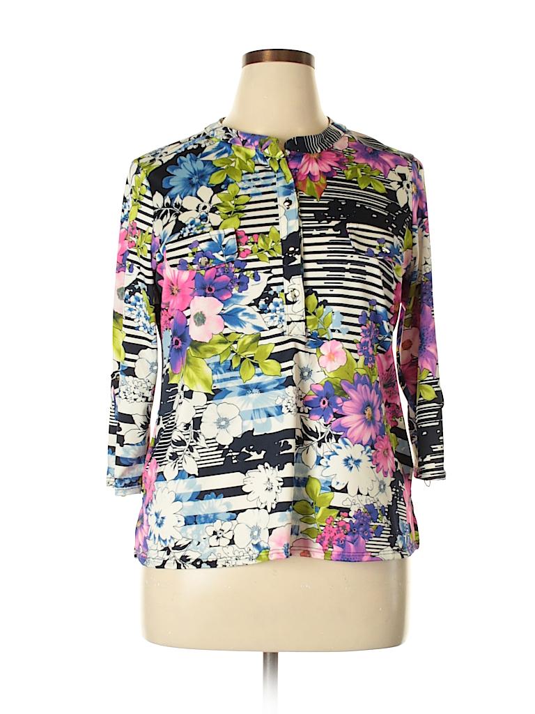 Notations Women 3/4 Sleeve Button-Down Shirt Size XL (Petite)