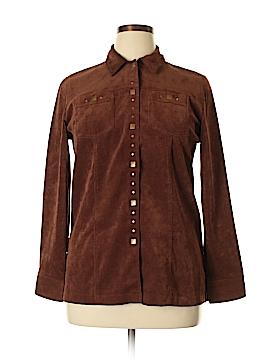 TanJay Long Sleeve Button-Down Shirt Size 10