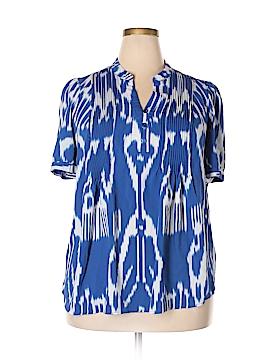 Denim 24/7 Short Sleeve Blouse Size 20w (Plus)