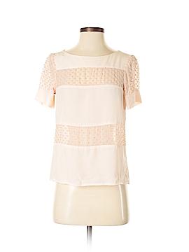 Amour Vert Short Sleeve Silk Top Size S