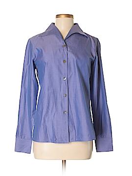 Zanella Long Sleeve Button-Down Shirt Size 6