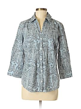 Van Heusen 3/4 Sleeve Button-Down Shirt Size M