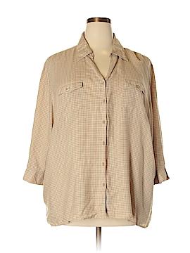 CSI Industries 3/4 Sleeve Button-Down Shirt Size 26 - 28 W (Plus)