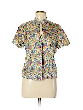 Robert Graham Short Sleeve Blouse Size 8