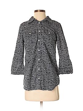 St. John's Bay 3/4 Sleeve Button-Down Shirt Size S