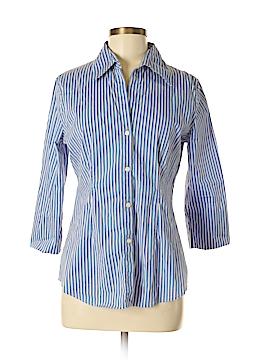 New York Studio 3/4 Sleeve Button-Down Shirt Size M