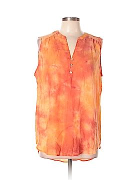 St. John Sleeveless Button-Down Shirt Size XL