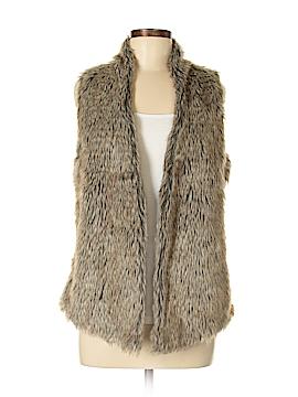 Joseph A. Faux Fur Vest Size M