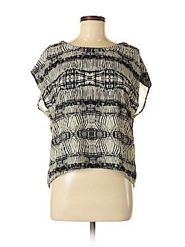 Mono B Short Sleeve Blouse Size M