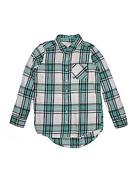 Girl Krazy Long Sleeve Button-Down Shirt Size 12