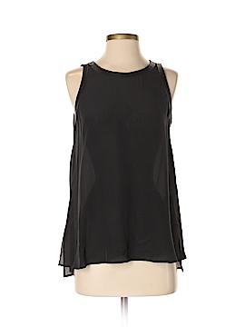 Lavender Brown Sleeveless Silk Top Size S