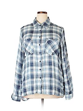 Hannah Long Sleeve Button-Down Shirt Size 2X (Plus)