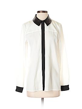 Black Saks Fifth Avenue Long Sleeve Blouse Size S