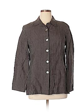 Kate Hill Long Sleeve Button-Down Shirt Size 14