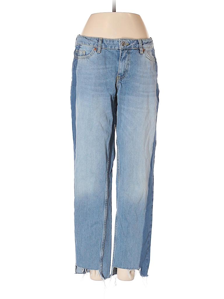 9184ef61 Zara Basic 100% Cotton Color Block Blue Jeans Size 2 - 62% off | thredUP
