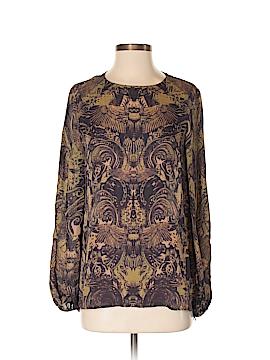 Haute Hippie Long Sleeve Silk Top Size S