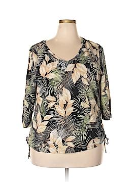 Caribbean Joe 3/4 Sleeve T-Shirt Size 2X (Plus)