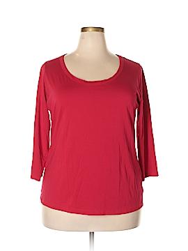 Nine West 3/4 Sleeve T-Shirt Size 2X (Plus)
